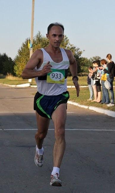 Дмитрий Муравцов во время пробежки